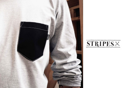 Stripes Hard Labour Lookbook shot by Stay Gold Photography.